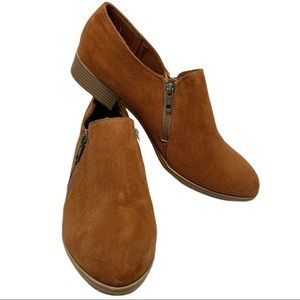 American Eagle Brown Duel Zip Front Ankle Boot 12W